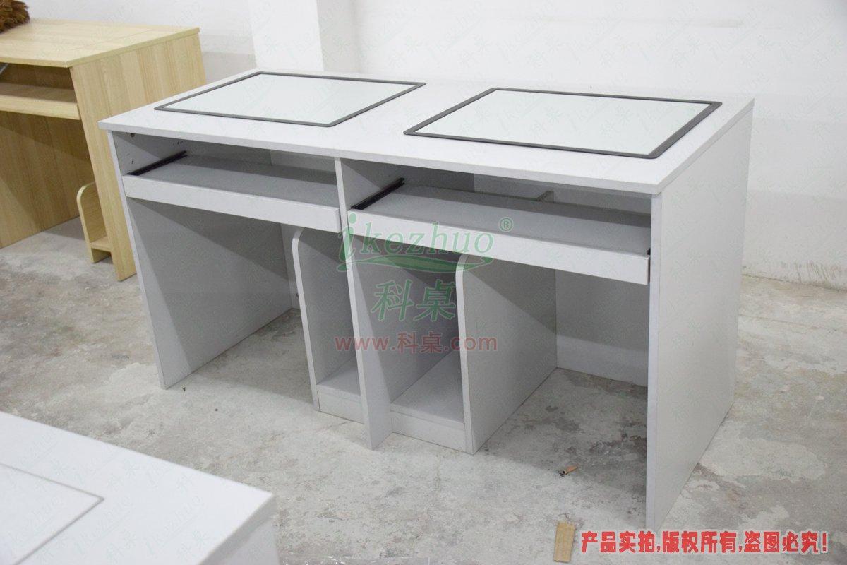 边框翻转电脑桌,边框翻转器,双人电脑桌,双人边框翻转电脑桌