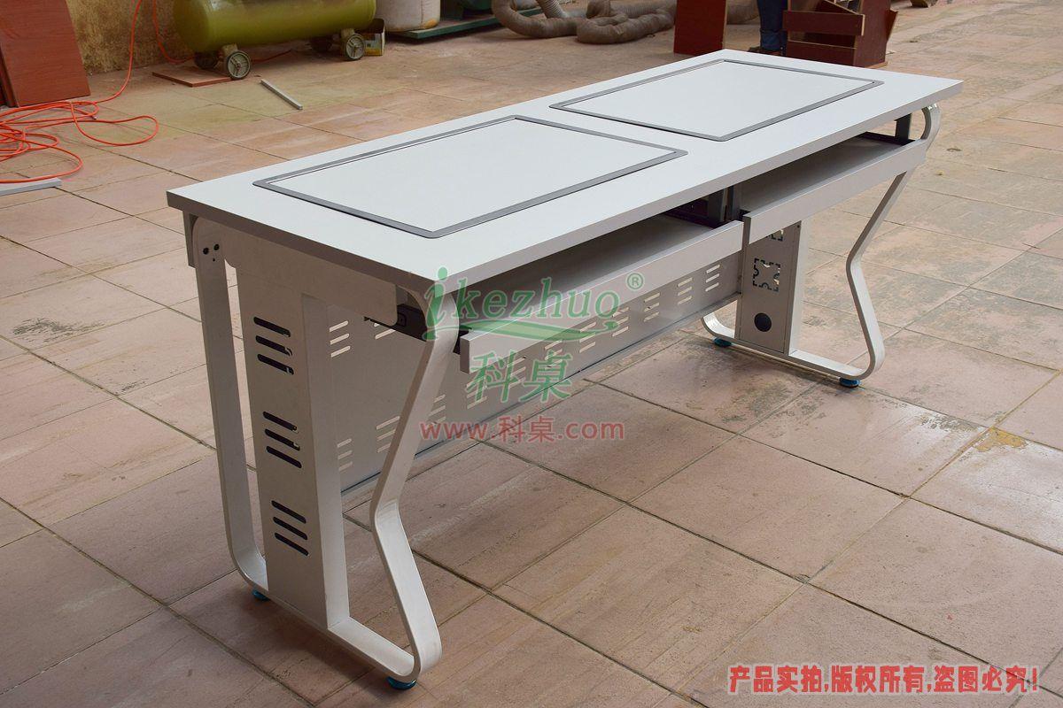 科桌家具,边框翻转器,边框翻转电脑桌,双人电脑桌,翻转电脑桌,K14-C